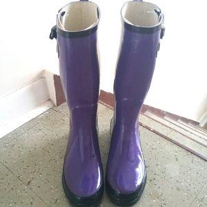 FREE w$40Purchase Purple & Black Rubber Rainboots